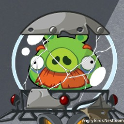 Angry Birds Space Avatar Moustache Pig