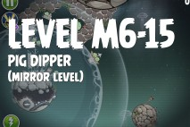 Angry Birds Space Pig Dipper Mirror Level M6-15 Walkthrough