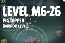 Angry Birds Space Pig Dipper Mirror Level M6-26 Walkthrough