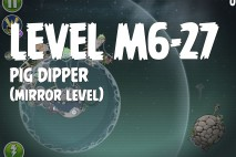 Angry Birds Space Pig Dipper Mirror Level M6-27 Walkthrough