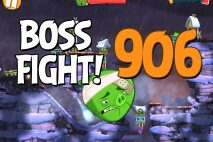 Angry Birds 2 Boss Fight Level 906 Walkthrough – Cobalt Plateaus Pigfoot Mountains