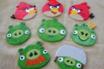 Angry Birds Clay Magnets