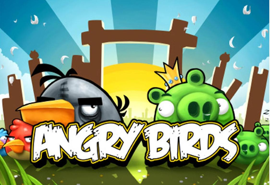 Angry birds desktop wallpapers angrybirdsnest angry birds title screen wallpaper voltagebd Choice Image