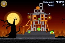 Angry Birds Seasons Trick or Treat Level 2-1 Walkthrough