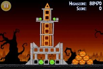 Angry Birds Seasons Trick or Treat Level 2-12 Walkthrough