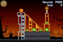 Angry Birds Seasons Trick or Treat Level 2-13 Walkthrough