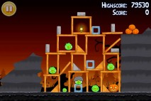 Angry Birds Seasons Trick or Treat Level 2-14 Walkthrough