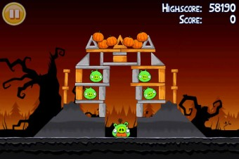 Angry Birds Seasons Trick or Treat Level 2-3 Walkthrough