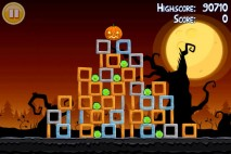 Angry Birds Seasons Trick or Treat Level 2-5 Walkthrough