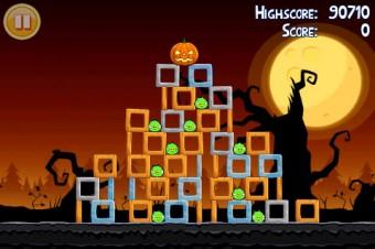 Angry Birds Seasons Trick or Treat Level 2-5 Walkthrough