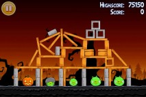Angry Birds Seasons Trick or Treat Level 2-6 Walkthrough