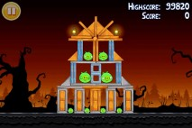 Angry Birds Seasons Trick or Treat Level 2-7 Walkthrough