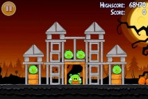 Angry Birds Seasons Trick or Treat Level 2-8 Walkthrough