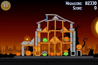 Angry Birds Seasons Trick or Treat Level 3-11 Walkthrough