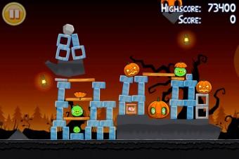 Angry Birds Seasons Trick or Treat Level 3-2 Walkthrough