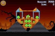 Angry Birds Seasons Trick or Treat Level 3-5 Walkthrough