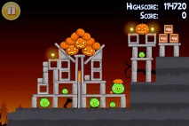 Angry Birds Seasons Trick or Treat Level 1-8 Walkthrough