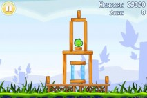 Angry Birds Lite 3 Star Walkthrough Level 1-1 (iOS)