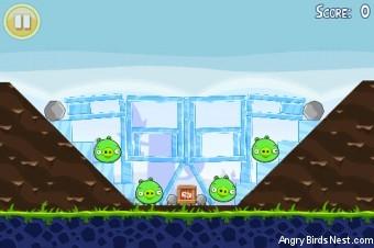 Angry Birds Lite 3 Star Walkthrough Level 1-12 (iOS)