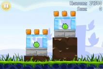 Angry Birds Lite 3 Star Walkthrough Level 1-2 (iOS)