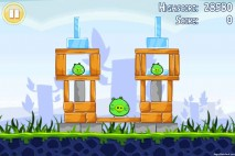 Angry Birds Lite 3 Star Walkthrough Level 1-3 (iOS)