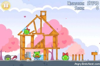 Angry Birds Seasons Hogs And Kisses 3 Star Walkthrough Level 12