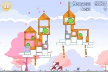 Angry Birds Seasons Hogs And Kisses 3 Star Walkthrough Level 13