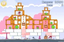 Angry Birds Seasons Hogs And Kisses 3 Star Walkthrough Level 14