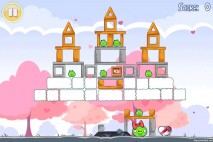 Angry Birds Seasons Hogs And Kisses 3 Star Walkthrough Level 2-1