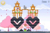 Angry Birds Seasons Hogs And Kisses 3 Star Walkthrough Level 2-2