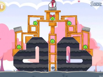 angry birds hogs and kisses level 18