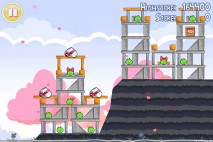 Angry Birds Seasons Hogs And Kisses 3 Star Walkthrough Level 4
