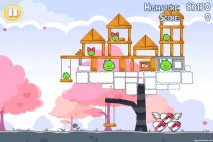 Angry Birds Seasons Hogs And Kisses 3 Star Walkthrough Level 5