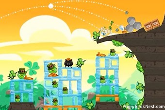 Angry Birds Seasons Go Green, Get Lucky Screen 2