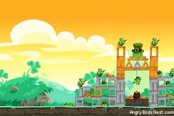Angry Birds Seasons Go Green, Get Lucky Screen 1