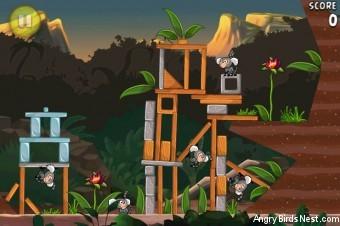 Angry Birds Rio Banana Walkthrough Level 17 (4-2)