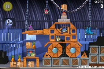 Angry Birds Rio Smugglers' Den Walkthrough Level 30 (2-15)