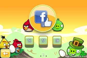 Angry Birds Seasons Go Green Get Lucky Bonus Facebook Levels