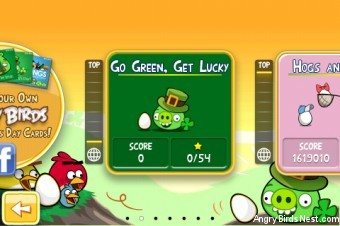 Angry Birds Seasons Go Green Get Lucky Episode Selection
