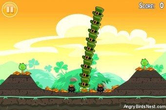 Angry Birds Seasons Go Green, Get Lucky Golden Egg #7 Walkthrough