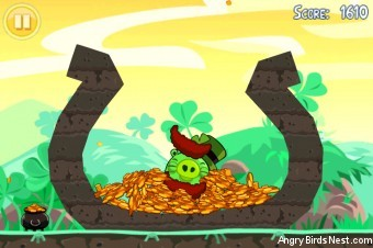 Angry Birds Seasons Go Green, Get Lucky Golden Egg #8 Walkthrough