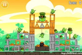 Angry Birds Seasons Go Green Get Lucky Level 1