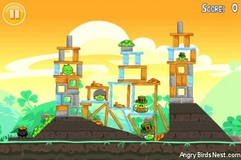 Angry Birds Seasons Walkthrough Go Green Get Lucky Level 12