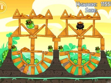 Angry Birds Seasons Go Green Get Lucky Level 13