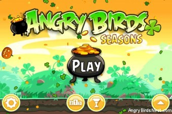 Angry Birds Seasons Go Green Get Lucky Main Screen