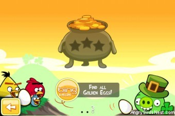 Angry Birds Seasons Go Green Get Lucky Pot O Gold Selection Screen