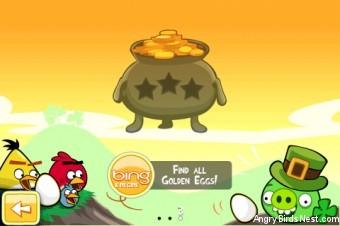 Angry Birds Seasons Go Green Get Lucky Pot O Gold Selection Screen