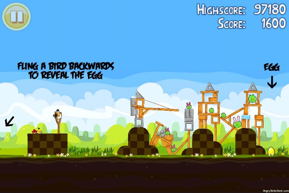 Angry Birds Seasons Easter Eggs Golden Egg 14 Walkthrough