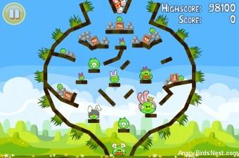 Angry Birds Seasons Easter Eggs Golden Egg #9 Walkthrough
