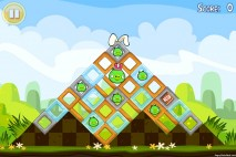 Angry Birds Seasons Easter Eggs Level 1-1 Walkthrough